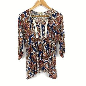 One World Floral Paisley Top 3599